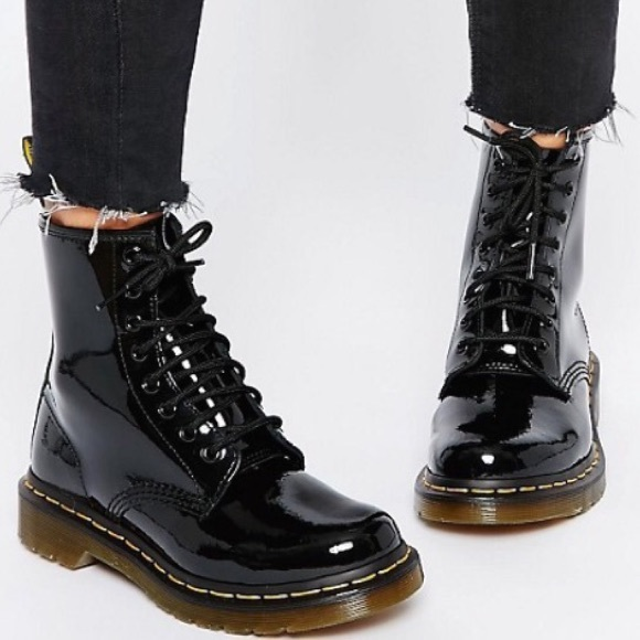 Dr Martens Patent Leather Size 6 Boots